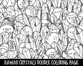 People Who Have Favourited Crystals Doodle Coloring Page Printable