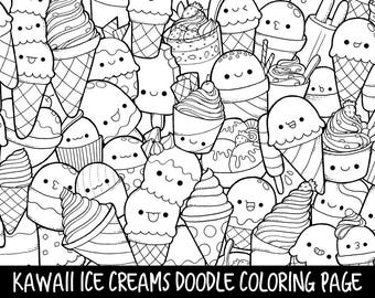 Colouring Page Kawaii