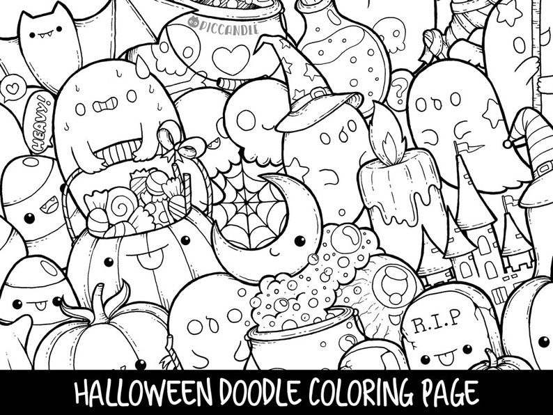 88 Top Cute Doodle Coloring Pages  Images