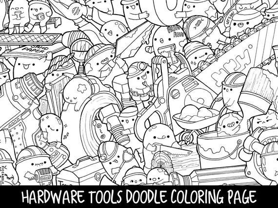 - Coloring Pages Of Cute Tools - Creative Art