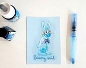 Bunny suit, postcard A6-format