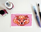 Pomeranian dog, postcard A6-format
