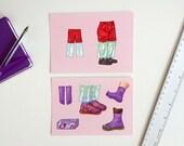 Imaginary laboratory equipment, set of 2 postcards A6-format