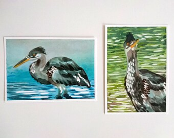 Heron, postcard A6-format