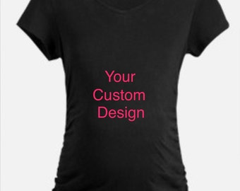 Maternity T-shirt, Custom, Personalized