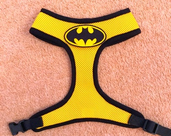 8582e7bb4d53 Batman Dog Harness Yellow