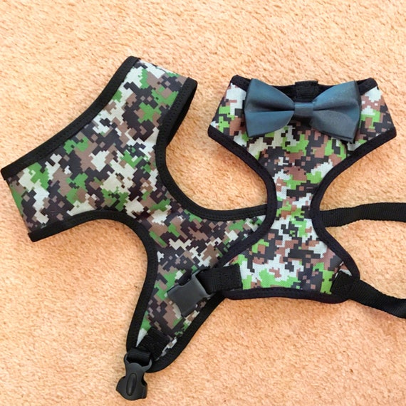 The dapper camouflage dog harness
