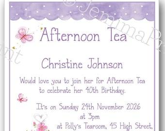 afternoon tea invite etsy