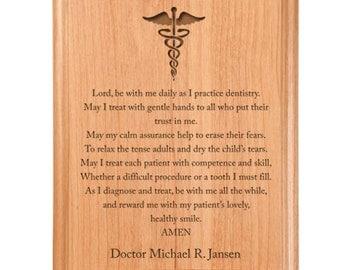 Dentist Prayer Plaque