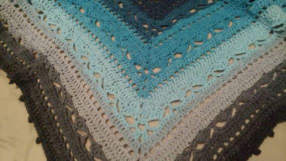 Crochet Bruinen Shawl Etsy