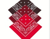 Brown, Maroon, Red, - Pack of 3 x 100 Cotton Bandana Scarf Facemask cover - Free UK Delivery, Same day dispatch, UK Seller
