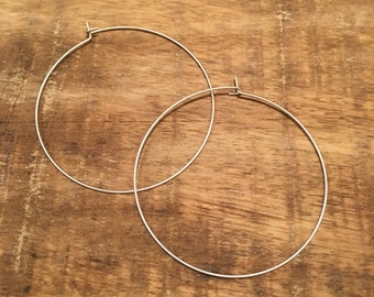 Silver Ultra Thin Hoop Earrings   hoop earrings, thin hoop earrings, hoops