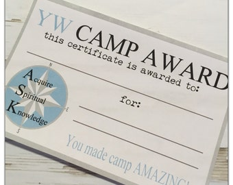 digital yw camp award certificate instant download young etsy