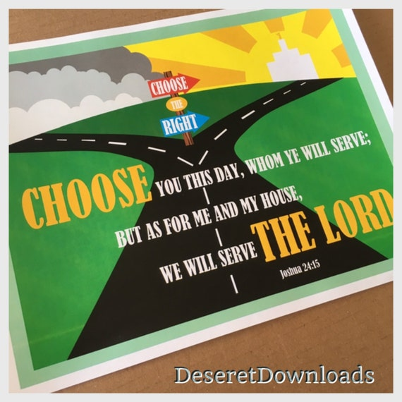 Digital CTR 2017 Primary Theme Choose You This Day Poster Sign Handouts  Instant Download Pdf file