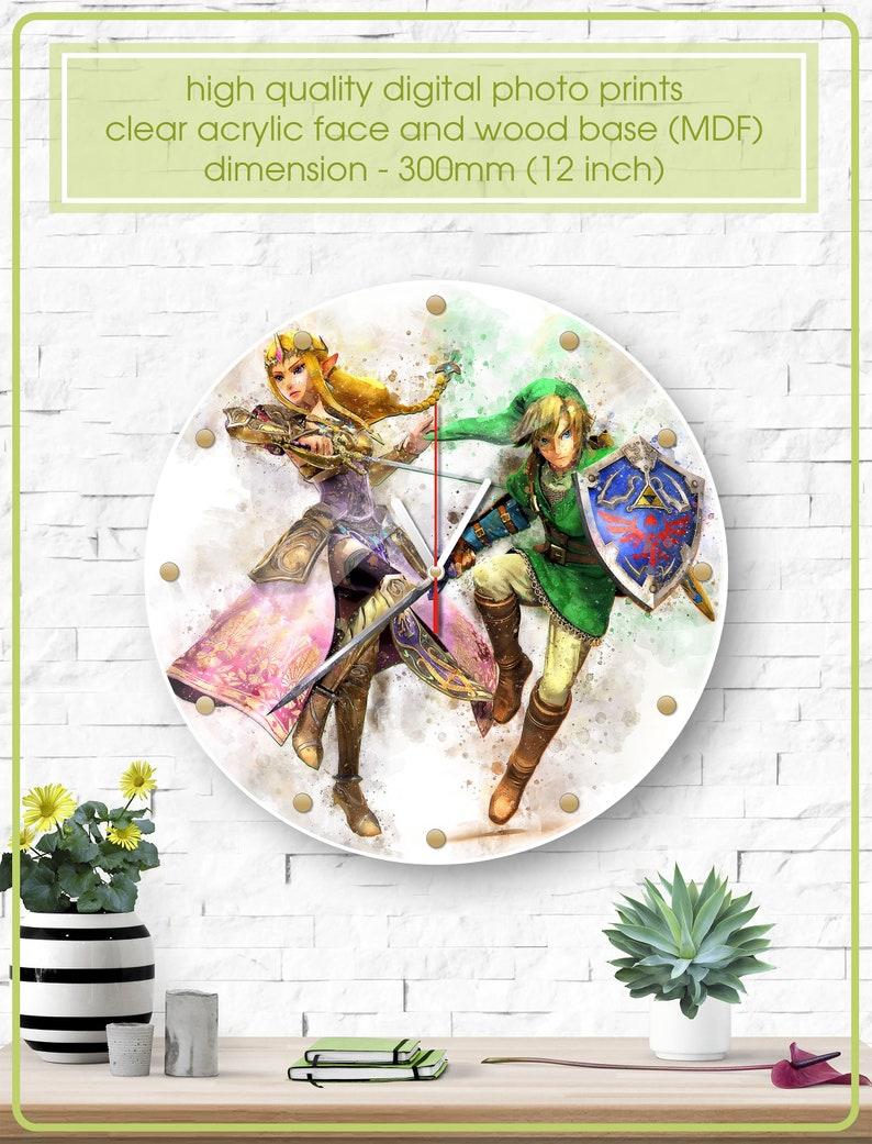 Zelda Clock Art Wall Clock Acrylic Clock Wall Clock Legend Of Zelda Ocarina Of Time Princess Zelda Geek Triforce Link Gift Z 006