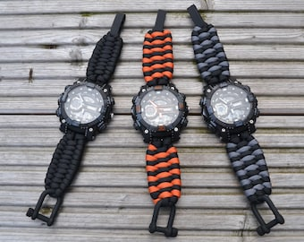 1f8a130c846edd Paracord 550 Trilobite weave watch strap