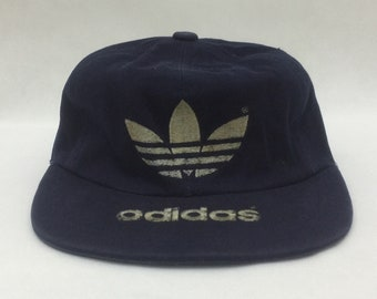 13ab1ce4682 Vintage ADIDAS Trefoil Big Logo Embroidered Snapback Cap Sz Large  59cm  Made in Japan