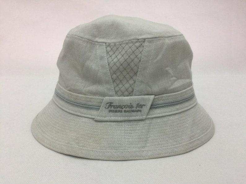 d5cb2a6a Stunning FRANCOIS 1er PIERRE BALMAIN Paris Designer Bucket Hat | Etsy