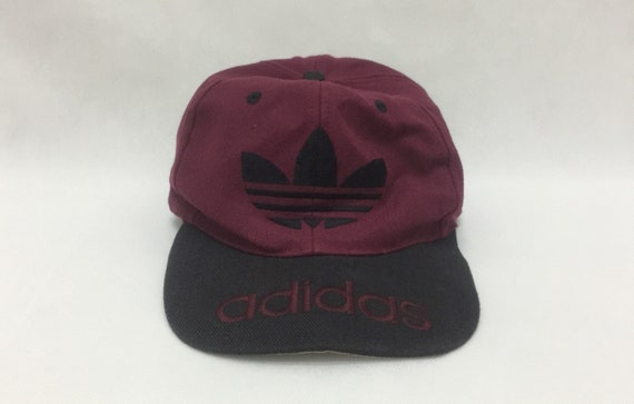 8c518200d2158 True Vintage ADIDAS Trefoil Big Logo Embroidered Snapback Cap One Size Made  in Taiwan R.O.C