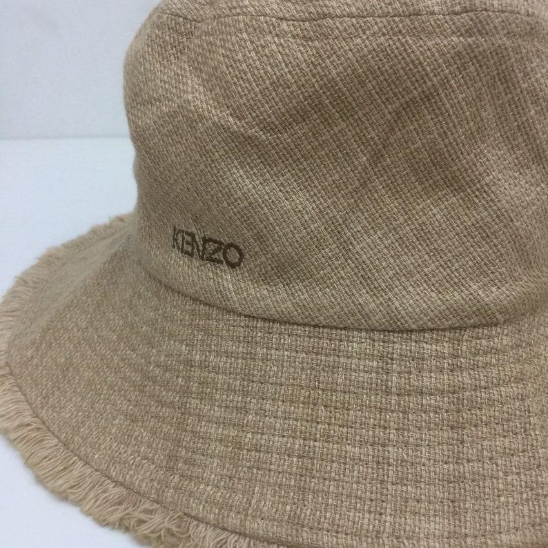 8f93d010 Vtg KENZO Japanese Designer Spellout Embroidered Bucket Hat Sz | Etsy