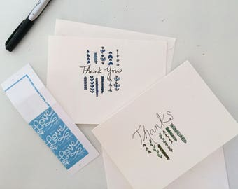 Thank You Cards / Blank Cards / Handmade Cards / Watercolor Cards /