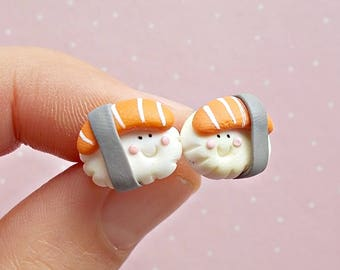 Sushi Earrings - Food Earrings - Sushi Stud Earrings - Sushi Jewelry - Sushi Lover Gift - Sushi Gift -