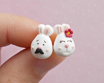 Bunny Earrings - Easter Earrings - Bunny Earrings - Rabbit Jewelry - Rabbit Lover Gift - Easter Gift -