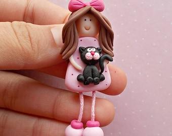 Cat pin - Cute pin - I like cats - Cat lapel pin - Cat jewellery - Cat gifts - Cats lover gift -