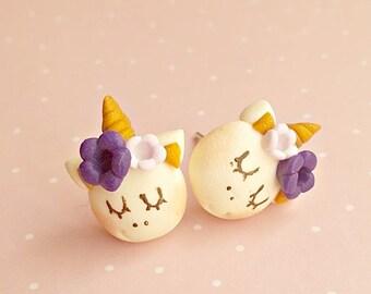 Unicorn Earrings - Unicorn Stud Earrings - Kids Earrings - Cute Earrings - Unicorn Gifts
