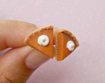 Pumpkin Pie Earrings - Thanksgiving Earrings - Cute Thanksgiving Jewelry - Fall Autumn Gifts