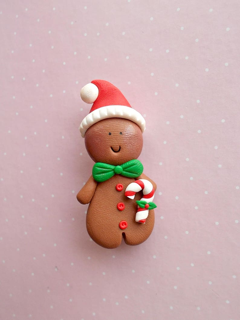 Christmas Jewelry Winter Jewelry Xmas Gift Christmas in july Food Jewelry Gingerbread Man Pin Christmas Pin Christmas Brooch
