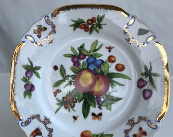 Godinger Fruit and Butterfly Decorator Plate