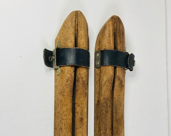 Antique Wood Ice Skate Blade Protectors, Ice Skate Blade Protectors