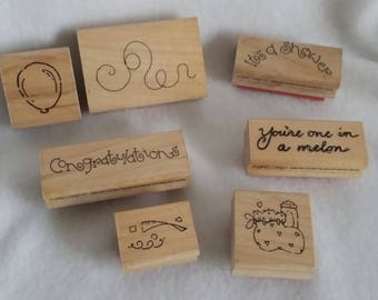 Set of 7 Baby Shower Stamps