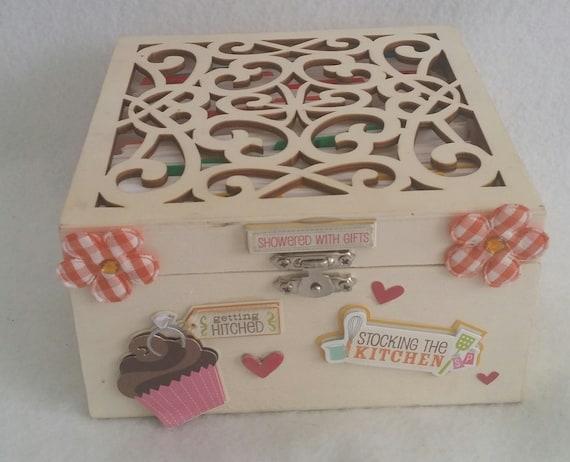 Hölzerne Hochzeit Geschenk Rezept Box Für Frisch Vermählte Paar Leere Rezeptkarten Mit Teiler Innen
