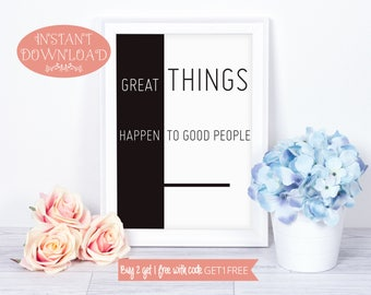 Printable Quote, Quote Print, Wall Art Prints, Quote, Inspirational Quote, Printable Wall Art, Positive Quote Print, Instant Download, Art