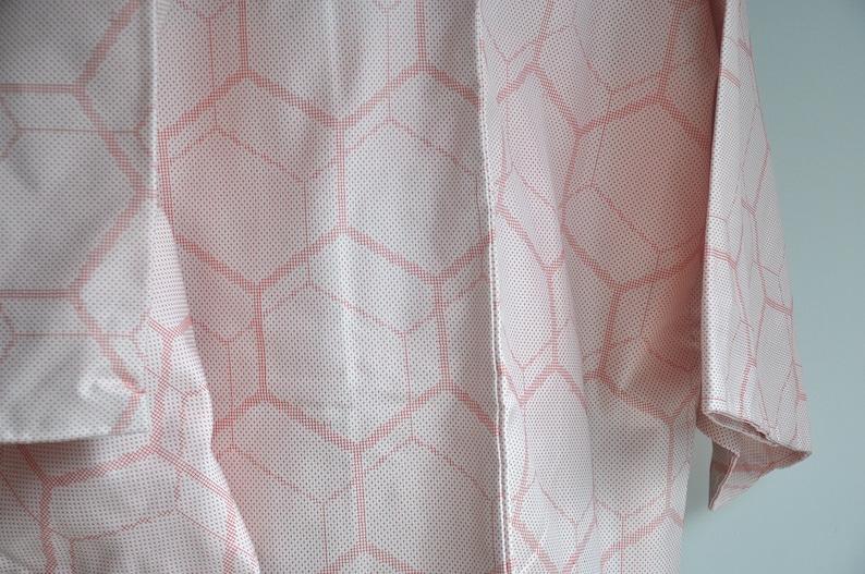 Japanese pink kimono jacket japan clothing authentic kimono cardigan top women/'s short kimono robe boho vintage structured haori coat