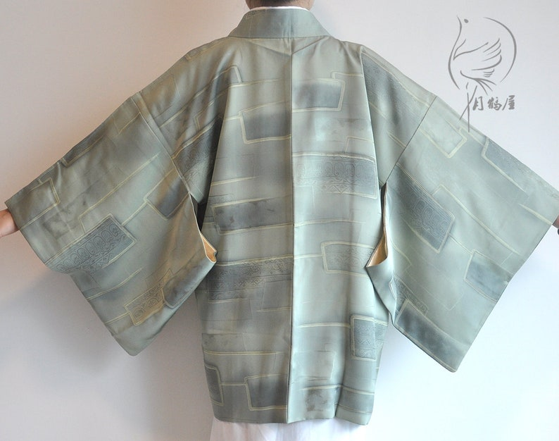 Di Verde Giapponese Giacca Haori Vintage Etsy Seta Corta Kimono A AxTqTCwf