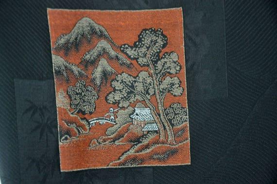 Silk black haori/japanese kimono jacket/short kim… - image 10