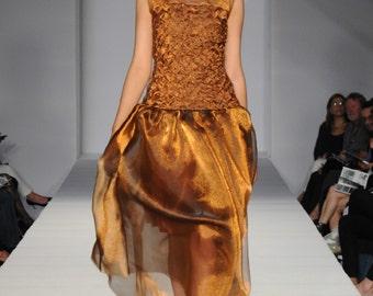 Smocked Organza Dress