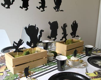 Center Piece Set where the wild things are theme