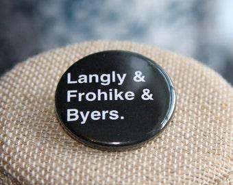 The X-Files The Lone Gunmen Button, The X-Files The Lone Gunmen Pin
