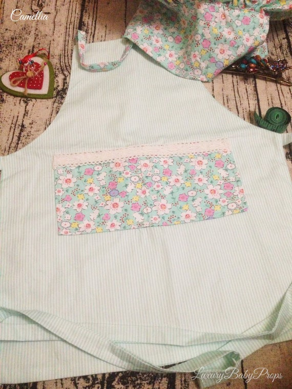 Toddler set Apron, Kids Aprons, Baby girl and boy Apron, 1-5 year old  apron,Kids Kitchen Aprons, Chef hat