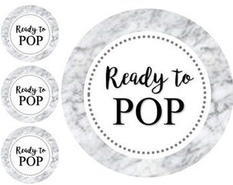 MARBLE Ready To Popready Pop Tagsbaby Shower Tagsmarble Labelsprintableparty Tagscircleinstant Downloadready Stickers