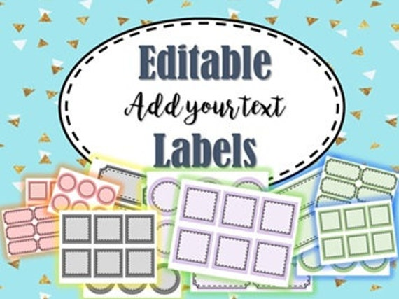 photograph relating to Printable Classroom Labels identified as Editable Labels,Insert your words and phrases labels,printable labels,instantaneous obtain,clroom labels,clroom decor,dwelling labels,child labels,bin labels