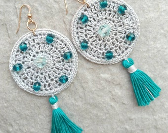 Bohemian Sea Green Earrings