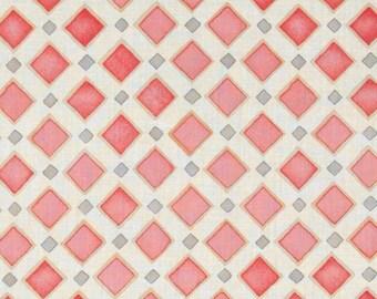 SALE! Organic voile fabric Cloud 9 Palos Verdes Organic Voile Malaga Cove pink peach gold by the yard
