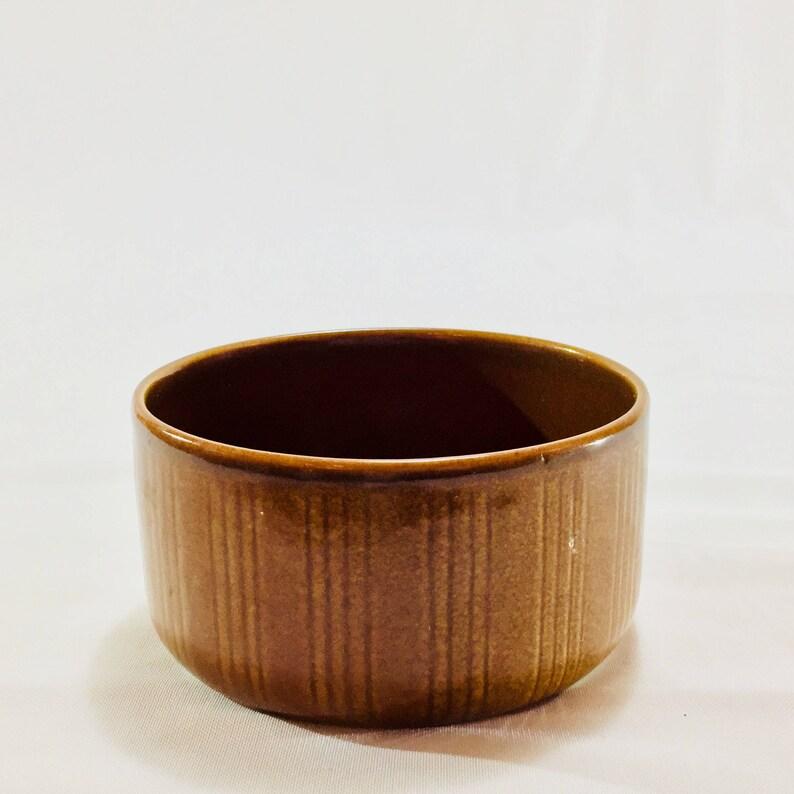 FREE WORLDWIDE SHIPPING Sweden a perfect mid century dish Gustavsberg Eldorado Brun bowl by Wilhelm K\u00e5ge
