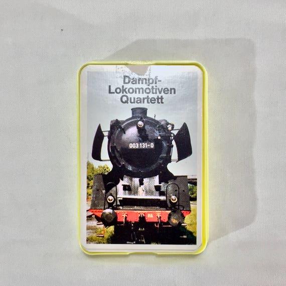 FRAIS de port - cartes locomotives Quartett de 1985 est un magnifique jeu avec des belles photos de locomotives allemandes