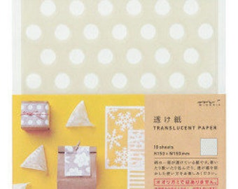 Decorative paper sheets, Translucent paper, Gift Wrapping, Paper craft, Scrapbook paper pack,  Midori Japan